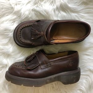 Dr Martens vintage leather penny loafer pumps